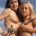 Hot Babes Fishing - NUDE! Fishing or displaying their catch