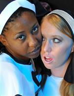 Girls dressed like Nuns