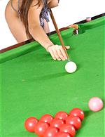 Can your favourite gal play snooker