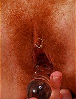 Hairy & Pierced pussy