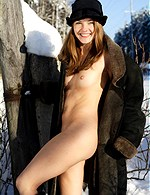 Sexy girls wearing furs