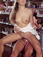 fresh sexy blonde having fun in the library...who is she?