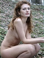 pale redhead naked in the snow MET-ART