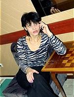 slim russian brunette