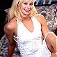 Cute blonde in nylon