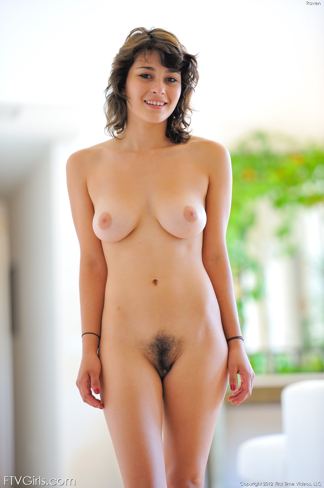 nude girl natural standing
