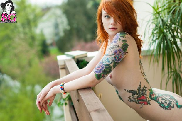 Lass suicide girls redhead nude
