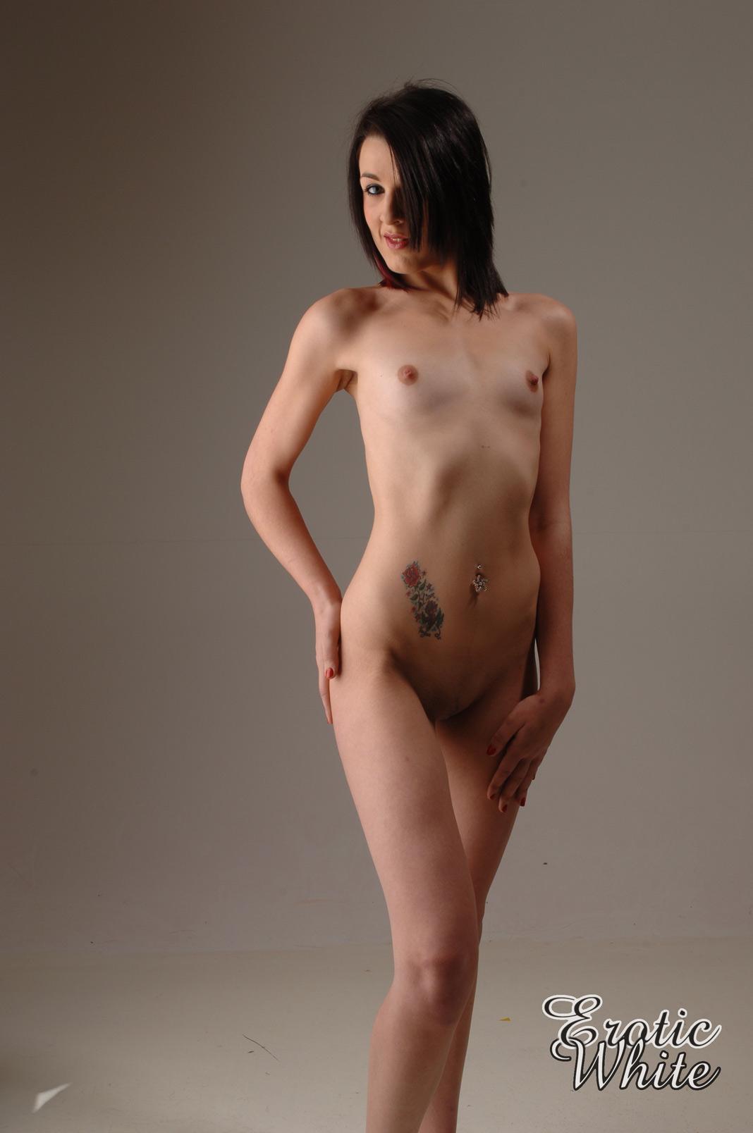 fnude flat chested boobs